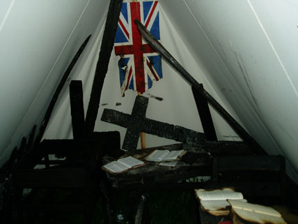 An example of one of the tents